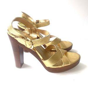 Juicy Couture Leather Platform Heels